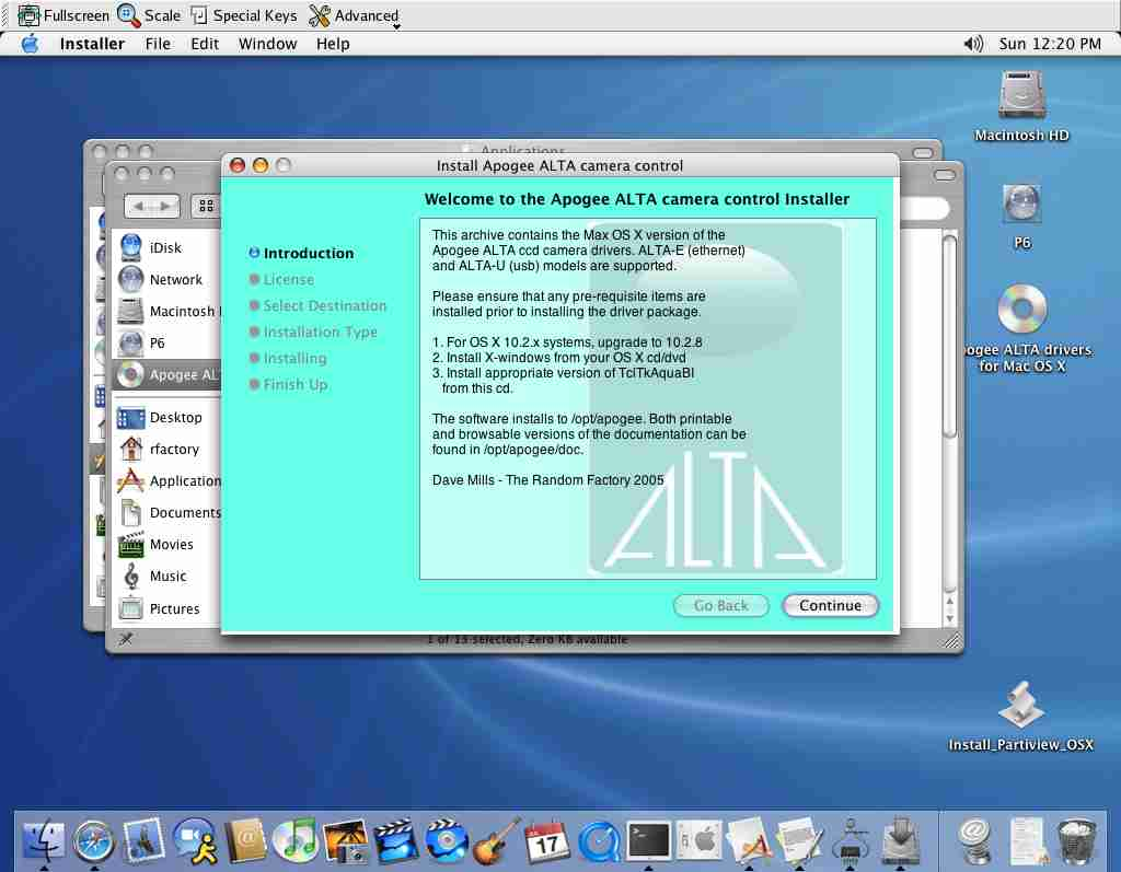 Apogee ALTA drivers for Mac OS X